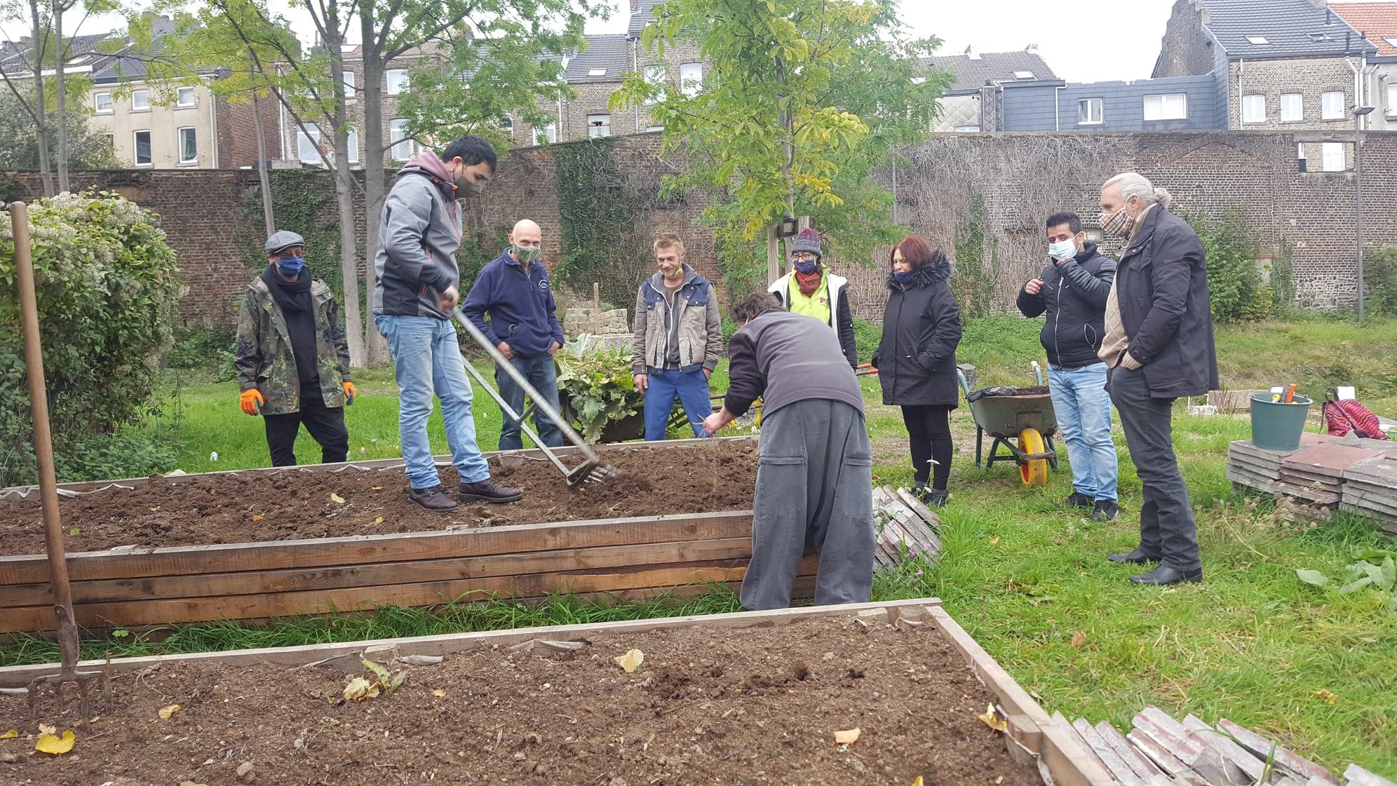 Le Petit jardin urbain rue Spintay à Verviers